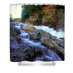 Color Steps At Livermore Falls Shower Curtain