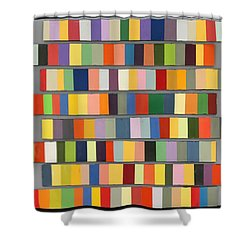 Color Strips Shower Curtain