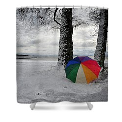 Color To The Melancholy Shower Curtain