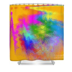 Color Towers Shower Curtain