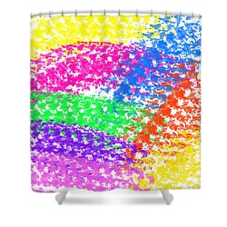 Color Treads Shower Curtain