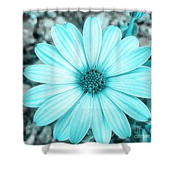 Color Trend Blue Blossom Shower Curtain