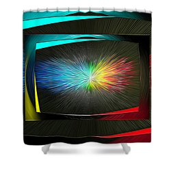 Color Tv Shower Curtain