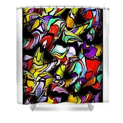 Color Unfolds Shower Curtain by Joan  Minchak