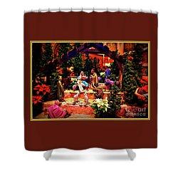 Color Vibe Nativity - Border Shower Curtain