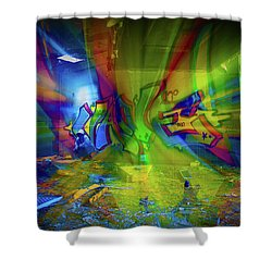 Color Wave Shower Curtain