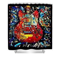 Color Wheel Guitar Shower Curtain