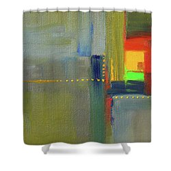 Shower Curtain featuring the painting Color Window Abstract by Nancy Merkle