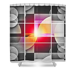 Shower Curtain featuring the digital art Color Your Chiaroscuro World by Aurelio Zucco