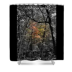 Color Your World Shower Curtain by Geri Glavis