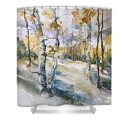 Colorado Aspens And Cottonwoods Shower Curtain by Robin Miller-Bookhout