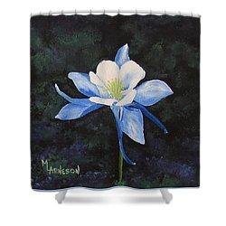 Colorado Blue Shower Curtain by Mary Arneson