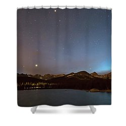 Shower Curtain featuring the photograph Colorado Brainard Lake Galaxy Night by James BO Insogna