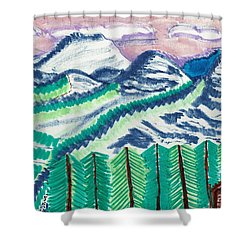 Colorado Cabin Shower Curtain by Don Koester