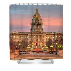 Shower Curtain featuring the photograph Colorado Capital by Gary Lengyel
