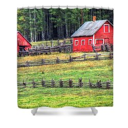Colorado Countryside  Shower Curtain by Charlotte Schafer