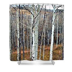 Colorado Fall Aspen Shower Curtain by James Steele
