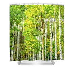 Colorado Fall Foliage Shower Curtain