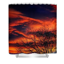 Colorado Fire In The Sky Shower Curtain