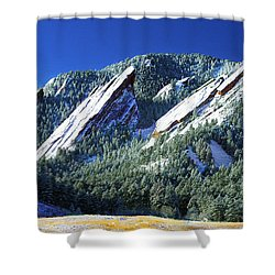 All Fivecolorado Flatirons Shower Curtain by Marilyn Hunt