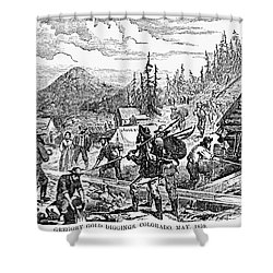 Colorado: Gold Mining, 1859 Shower Curtain by Granger