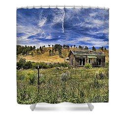 Colorado Homestead Shower Curtain by John Bushnell