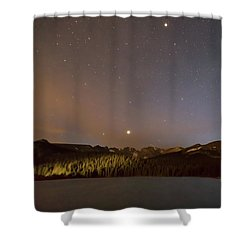 Shower Curtain featuring the photograph Colorado Indian Peaks Stellar Night by James BO Insogna