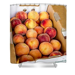 Colorado Peaches Ready For Market Shower Curtain
