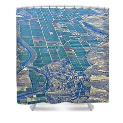 Colorado River Aerial Shower Curtain by Kirsten Giving