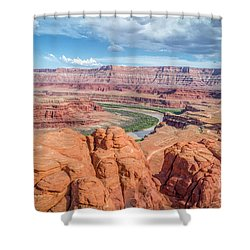 Colorado River And Chicken Corner Trail  Shower Curtain