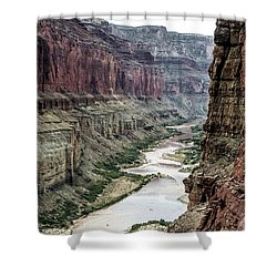Colorado River And The East Rim Grand Canyon National Park Shower Curtain
