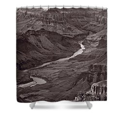Colorado River At Desert View Grand Canyon Shower Curtain by Steve Gadomski