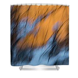 Colorado River Snow Banks Shower Curtain