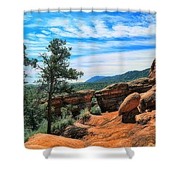 Colorado Rocks Shower Curtain by John Bushnell