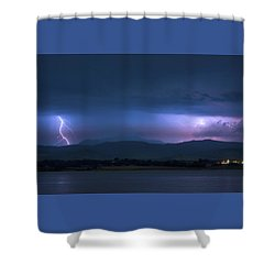 Shower Curtain featuring the photograph Colorado Rocky Mountain Foothills Storm by James BO Insogna