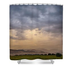 Shower Curtain featuring the photograph Colorado Rocky Mountain Foothills Storms by James BO Insogna