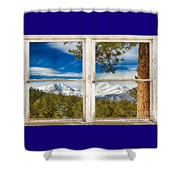 Colorado Rocky Mountain Rustic Window View Shower Curtain