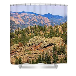 Shower Curtain featuring the photograph Colorado Rocky Mountains by Sheila Brown