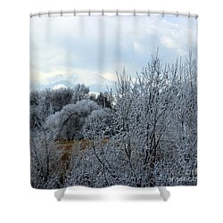 Colorado Springs Winter Shower Curtain