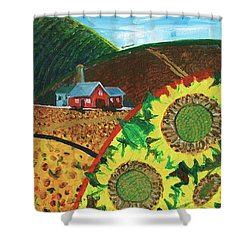 Colorado Sunflowers Shower Curtain