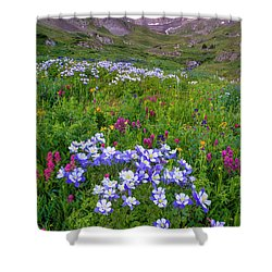 Colorado Sunrise - American Basin Shower Curtain by Aaron Spong