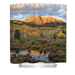 Colorado Sunrise Shower Curtain by Phyllis Peterson
