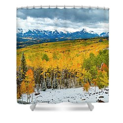 Colorado Valley Of Autumn Color Shower Curtain by Teri Virbickis