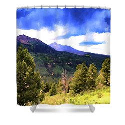 Colorado Watercolor Shower Curtain