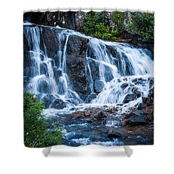 Shower Curtain featuring the photograph Colorado Waterfall by Jay Stockhaus