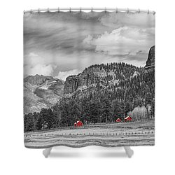 Colorado Western Landscape Red Barns Shower Curtain by James BO  Insogna
