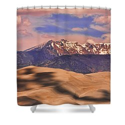 Colorado's Great Sand Dunes Shadow Of The Clouds Shower Curtain by James BO  Insogna