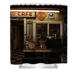Colored Cafe Shower Curtain