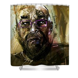 Colored Glasses Shower Curtain by Jim Vance