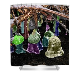 Colored Ice Bells Shower Curtain